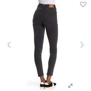 """Madewell Washed Black 9"""" High Rise Skinny Jeans"""